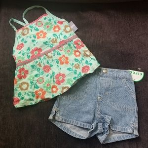 Halter Top and Denim Shorts- NWT